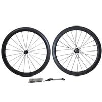 2014 NEW MODEL 50MM Clincher Tubular Glossy Matte Carbon Wheels Clincher Rims Wheels Carbon Clincher Wheels