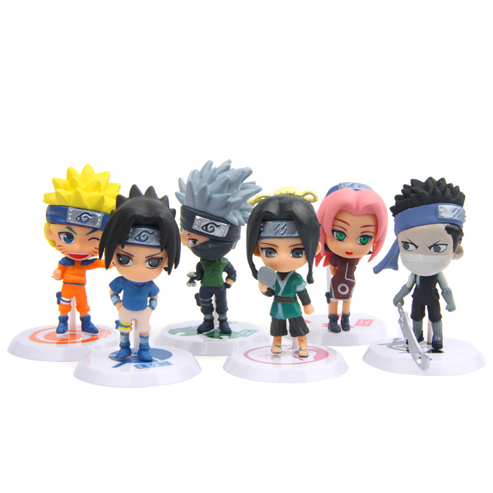 6pcs/lot Naruto figure set Uzumaki Naruto Uchiha Sasuke 2017 New PVC Naruto Action Figures Model Kakashi Doll Car Decoration toy 6pcs lot 7cm naruto action figure set q edition toy naruto japan anime figures model toy set action toys