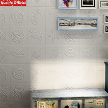 купить Marine animal pattern 3d wall stickers living room bedroom living room kids room kindergarten anti-collision foam wall stickers дешево