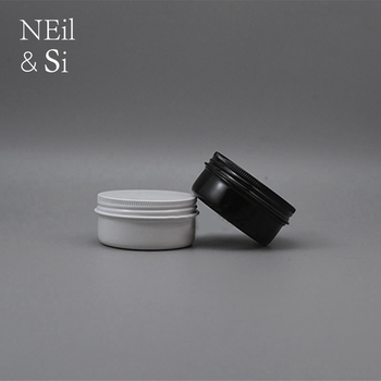 50g Aluminum Jar Refillable Cosmetic Lotion Eye Cream Wax Tin Screw Cap Container White Black Free Shipping
