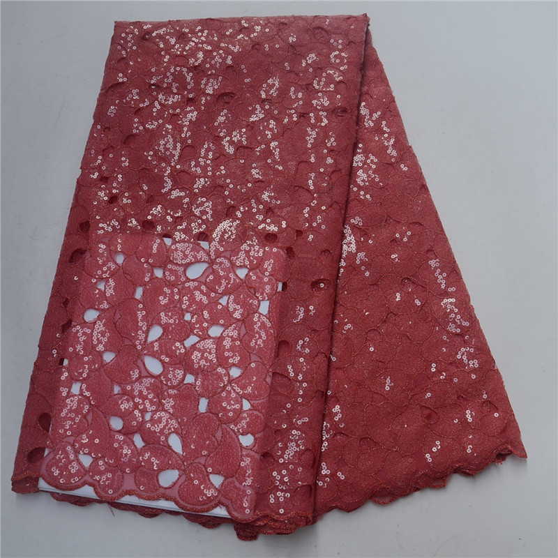 Latest African Lace Fabric High Quality Nigerian Tulle Lace Fabric With Sequins coral Color Organza Lace Fabric For WomenLatest African Lace Fabric High Quality Nigerian Tulle Lace Fabric With Sequins coral Color Organza Lace Fabric For Women