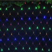 1.5m*1.5m Net Lights 6w 100 LED Net Mesh Decorative Fairy Lights Twinkle Lighting Christmas Wedding Party US/EU 110-240V Free