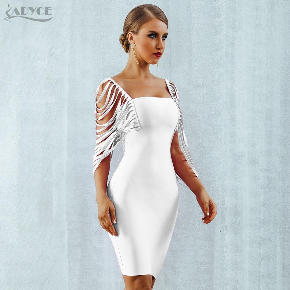 ADYCE 2019 Neue Sommer Bodycon Verband Kleid Frauen Spaghetti Strap Club Kleid Quaste Mini Berühmtheit Abend Party Kleid Vestidos-in Kleider aus Damenbekleidung bei  Gruppe 3