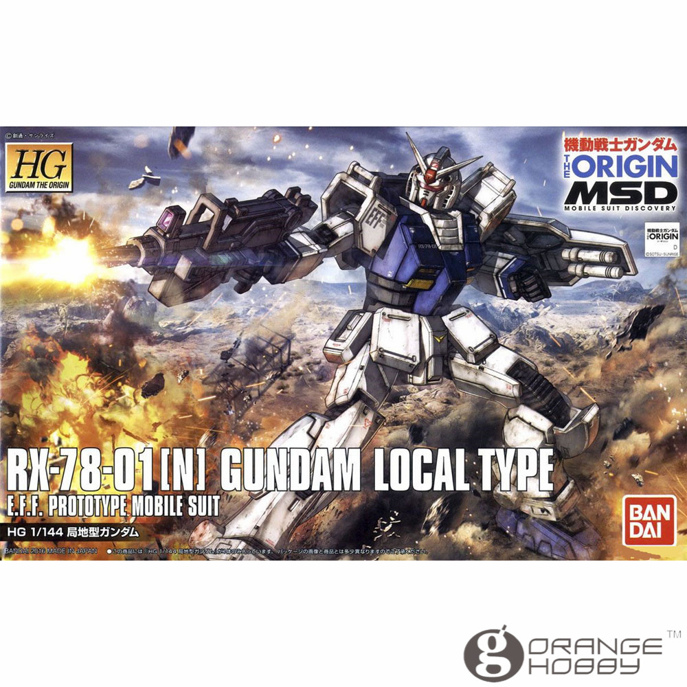OHS Bandai HG Origin 010 1/144 RX-78-01 N Gundam Local Type Mobile Suit Assembly Model Kits oh ohs bandai mg 155 1 100 rx 0 unicorn gundam 02 banshee mobile suit assembly model kits oh