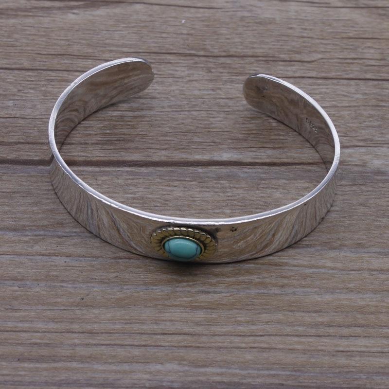 Tibetan-style Silver Silver Bracelet children's Opening Bangle hand-high Bridge Bracelet Jewelry leaf opening bracelet