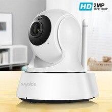 SANNCE 1080P كامل HD كاميرا واي فاي لاسلكية صغيرة Sucurity IP كاميرا تلفزيونات الدوائر المغلقة واي فاي شبكة مراقبة الذكية IRCUT للرؤية الليلية كام
