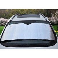 Front 145x70cm Car Sun Shade Window Curtain UV Protect Car Window Film Aluminum Foil Bubble Gold