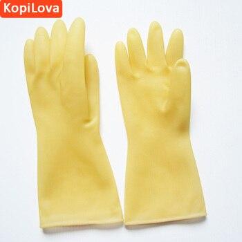 Kopilova Látex Guantes Cocina Limpieza Platos Lavado Trabajo Guantes ácido  Alkail Resistente Guantes Envío Libre