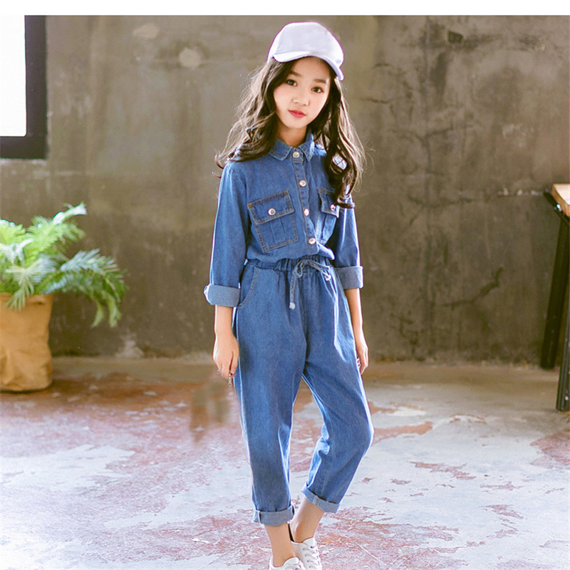 2 pcs Girls Clothes set 2018 Autumn Winter kids Clothing set for girls 8 9 10 12 years teenager denim coat and pants sets 2017 high quality girls luxury sequin denim jacket pants clothing set kids clothes sets jeans coat trousers two piece set