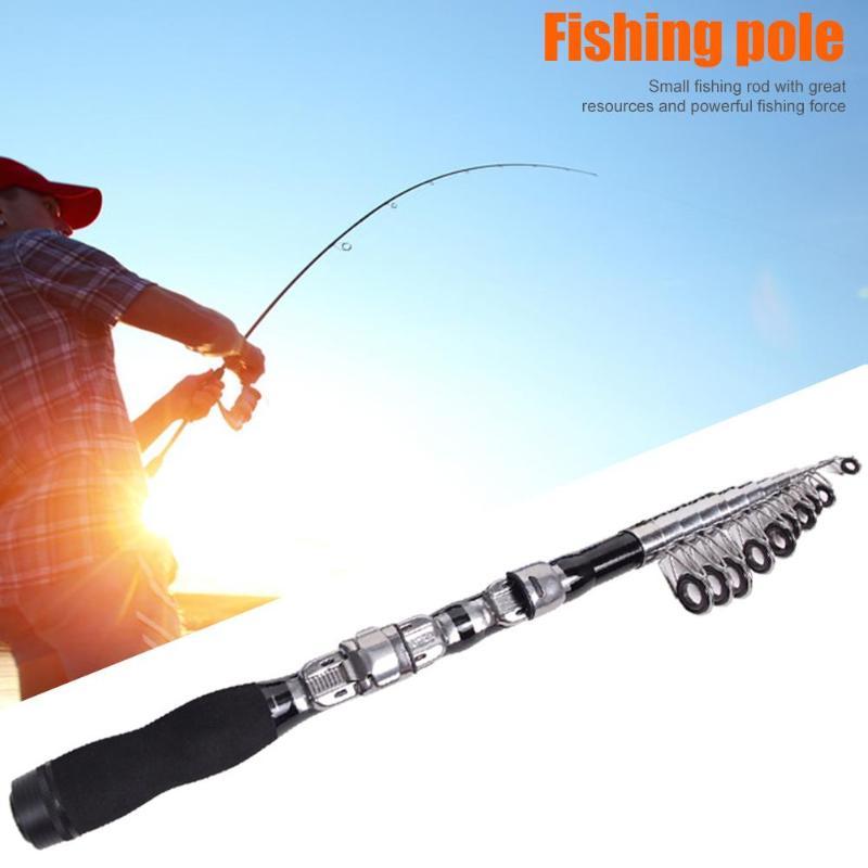 Portable Rock Fishing Rod Ultrashort Telescopic Carbon Fishing Pole Tackle