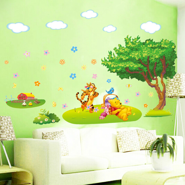 Perfect Winnie The Pooh Wall Sticker Baby Kids Room Poster Cartoon Wallpaper Tree Wall  Decal Art Stickers Adesivo Kids Parade Home Decor In Wall Stickers From  Home ... Part 32