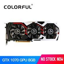 Красочные iGame GTX1070 NVIDIA GeForce GPU 8 ГБ GDDR5 256bit PCI-EX16 3.0 VR Готовые Игры Видео Видеокарта видеокарта DVI + HDMI + 3 * DP 3 Вентиляторы видеокарты