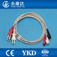 ECG monitor Cable,3lead ECG Leadwires with AHA,Snap for SPACELABS