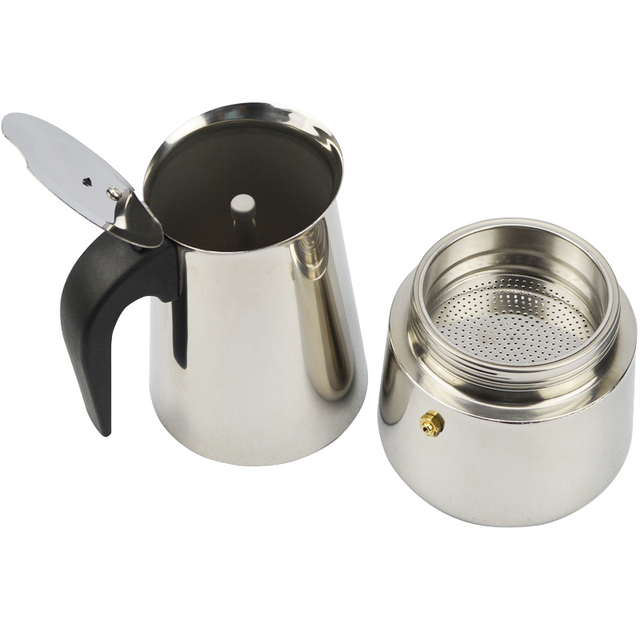 High Quality Cups Stainless Steel Coffee Maker Moka Pot Espresso Cups Latte Percolator Stove Top Espresso Pot