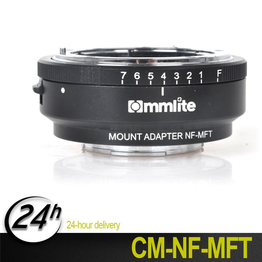 Nouvel adaptateur Commlite pour monture dobjectif avec cadran douverture pour objectif Nikon F AF-S G vers appareil photo M4/3 MFT GH4 GH5 GF6 GX1 GX7 EM5 EM1 E-PL5Nouvel adaptateur Commlite pour monture dobjectif avec cadran douverture pour objectif Nikon F AF-S G vers appareil photo M4/3 MFT GH4 GH5 GF6 GX1 GX7 EM5 EM1 E-PL5