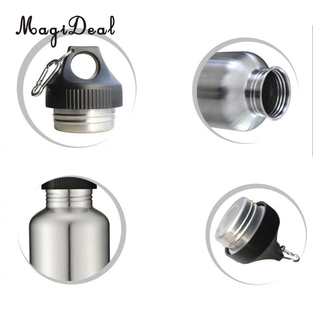 MagiDeal 2000ml 304 Stainless Steel Wide Mouth Cycling Sports Drinking Water Bottle for Outdoor Kayaking Rafting Camping Travell
