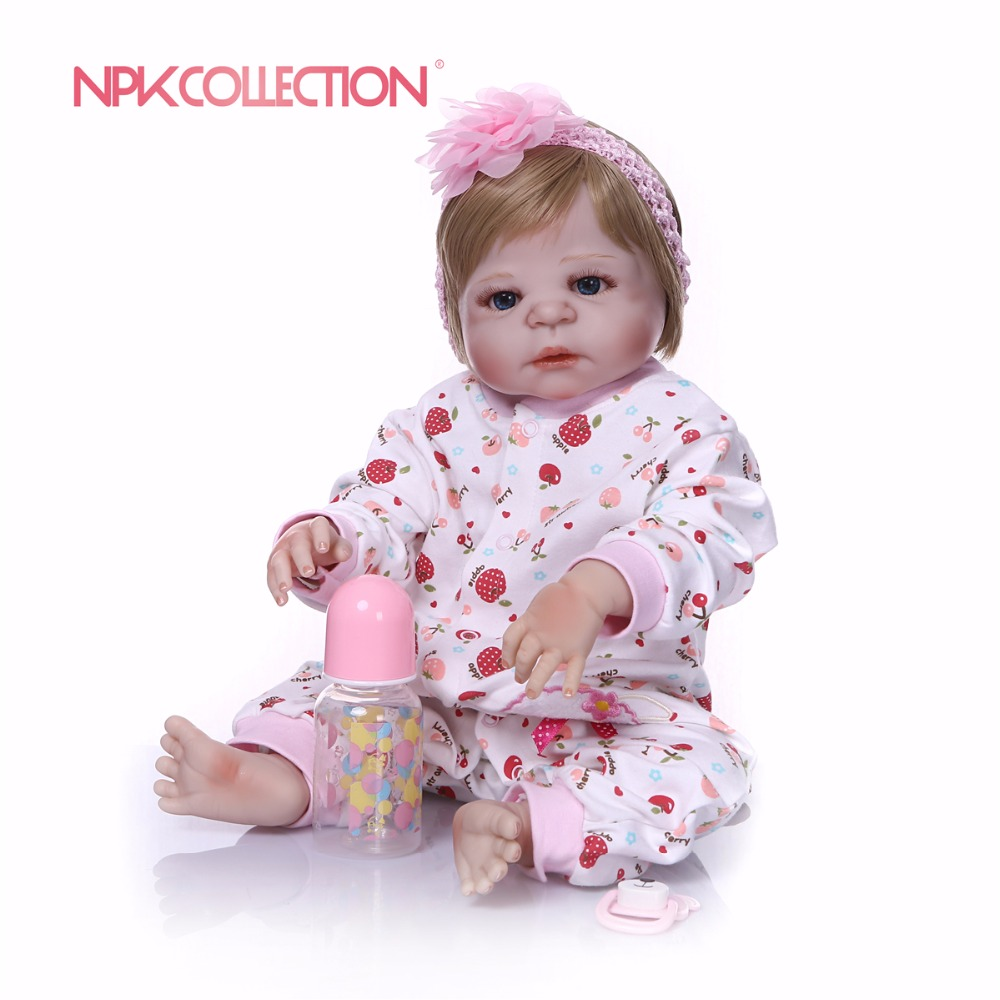 NPKCOLLECTION New design pink Doll Full Silicone Body Lifelike Reborn Prince  Doll Handmade Baby Toy Xmas GiftsNPKCOLLECTION New design pink Doll Full Silicone Body Lifelike Reborn Prince  Doll Handmade Baby Toy Xmas Gifts