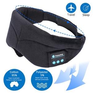 Image 2 - JINSERTA Bluetooth casque sommeil oeil masque sans fil musique Bluetooth sommeil yeux nuances casque Support mains libres lavable