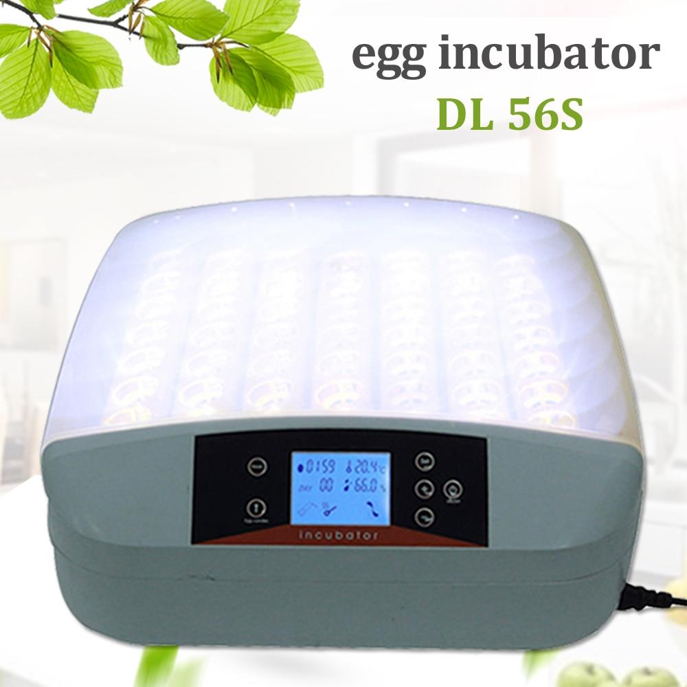 En kaliteli 56 yumurta kuluçka otomatik dijital LED sıcaklık kontrol kanatlı Hatcher ev çiftliği tavuk tepsisi Brooder