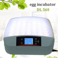 Top Quality 56 Egg Incubator Automatic Digital LED Temperature Control Poultry Hatcher Home Farm Chicken Tray Brooder