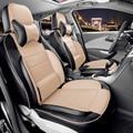 Personalizado de coches para Mitsubishi asx cubierta de asiento y soporte negro PU asientos de cuero cubierta decorativa cojín del asiento de coche accesorios conjunto