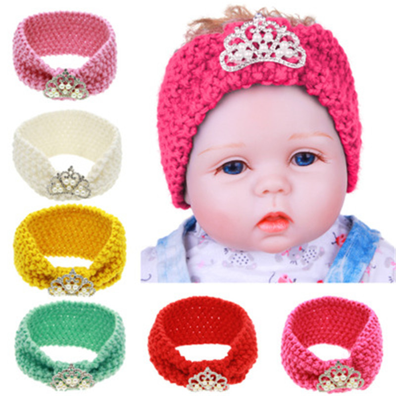 1Pc Winter Baby Girl Ear Warmer Widening Wool Hair Bands Crown Twist Knitted Headband Turban Headwrap For Girl Hair Accessories