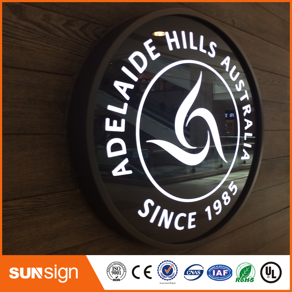 Profession Stainless Steel And Acrylic Frontlit Led Sign
