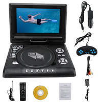 7.8 Inch Portable car DVD Player Car TV CD Digital Multimedia Player Swivel Screen USB SD Support Game Function With car charger