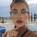 Lentes de la vendimia Claro Gafas de Marca Marco Empollón vidrios Del Ojo Las Mujeres o Los Hombres Square Classic Gafas Lente Transparente
