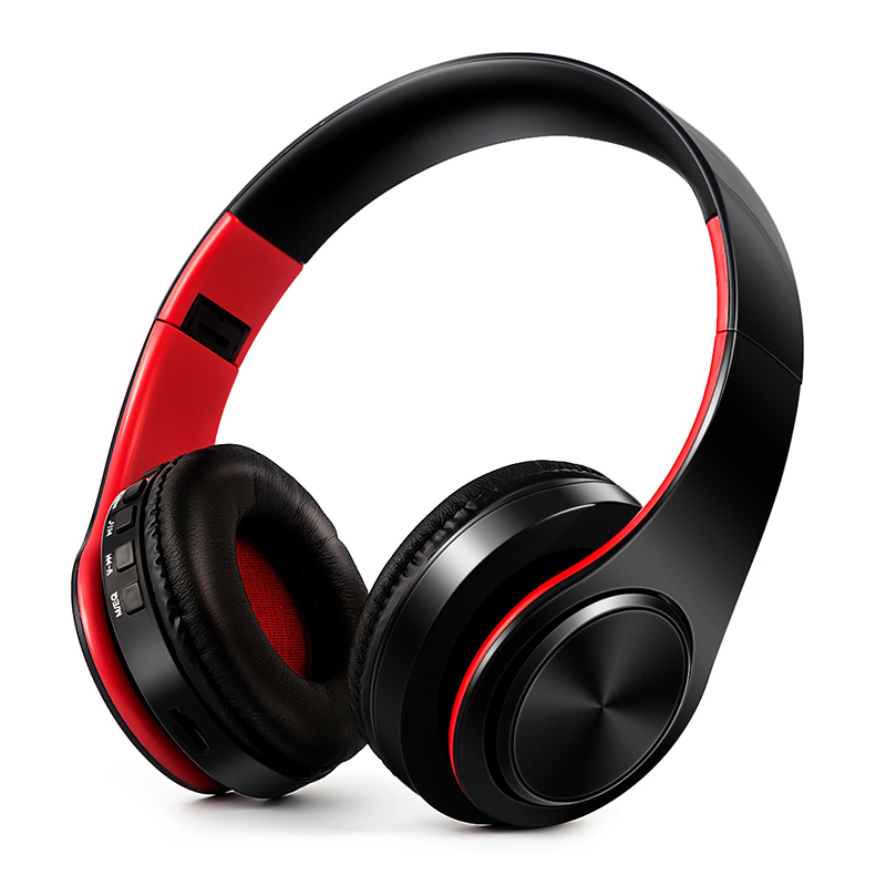 Hot Sale Portable Folding Bluetooth Headset Wireless Headset Support TF Card 3.5mm AUX Stereo Music Sport Bluetooth Headphone lesoi f1 portable wireless bluetooth speaker support tf card