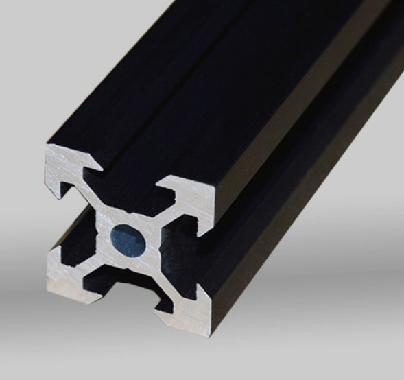 1pc <font><b>500mm</b></font> Aluminum Profile European Standard Black 2020 V-Slot Aluminum Profile Extrusion Frame For CNC <font><b>3D</b></font> <font><b>Printers</b></font> Laser Stand image