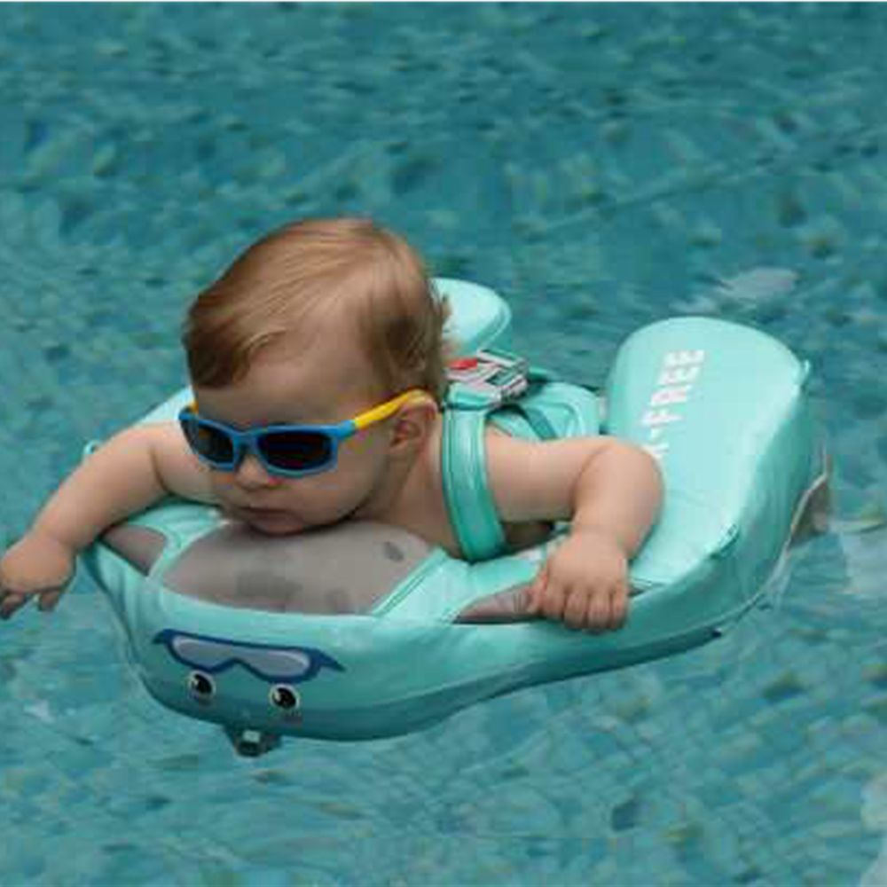 Waterproof Cover Solid No Need Inflatable Baby Swimming Ring floating Float + Baby sunglasses-in Accessories from Mother & Kids    1