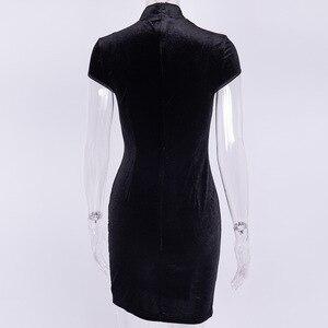 Image 5 - Женское платье в китайском стиле, готическое облегающее мини платье Чонсам, летнее винтажное черное платье в стиле Харадзюку, 2019