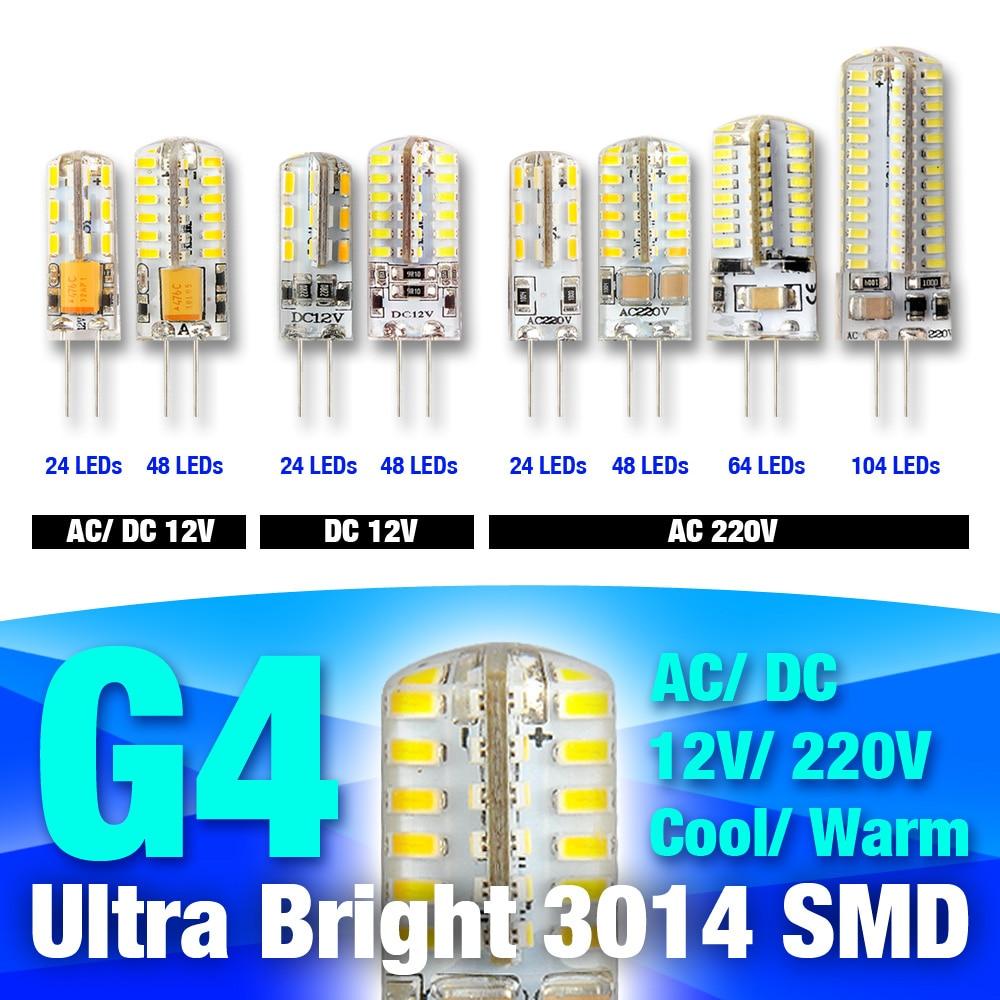 G4 LED Lamp 3W 5W 6W 7W 8W 9W AC/DC12V 220V 3014 SMD Replace 20W 30W 40W Halogen Candle Light Bulb 360degree Chandelier Lighting