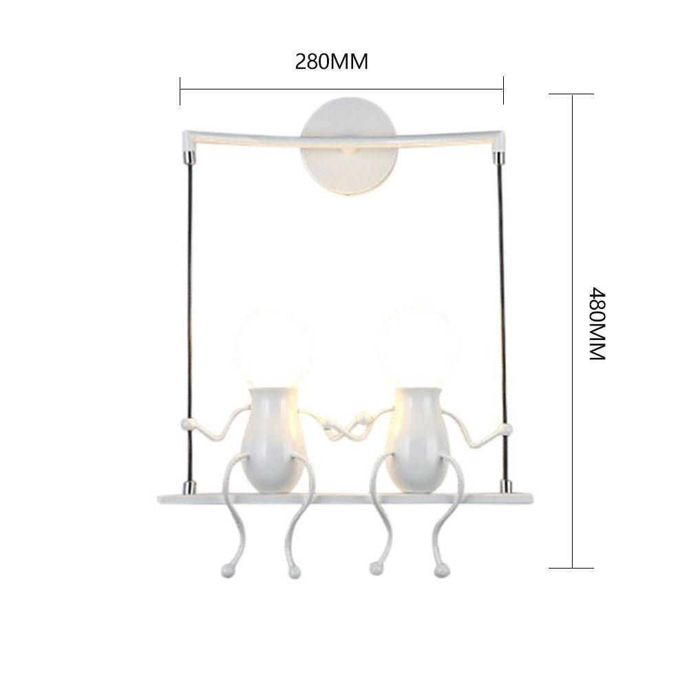 Image 3 - Bedroom Lamp Creative Modern LED Wall Lamp Creative Mounted Iron Sconce Couples Wall Lights Bedroom Corridor Wall Light No Bulb-in LED Indoor Wall Lamps from Lights & Lighting