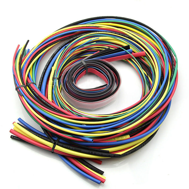 55 M /Kit Heat Shrink Tubing 55 m 11 sizes Colorful Tube Sleeving Wire Cable 6 Colors Cable Sleeve Assortment Wrap Wire Kit spiral band banding wrap sleeving tubing cable sleeve wire protection spiral cable sleeve od 4 6 8 10 12 14 16 18mm