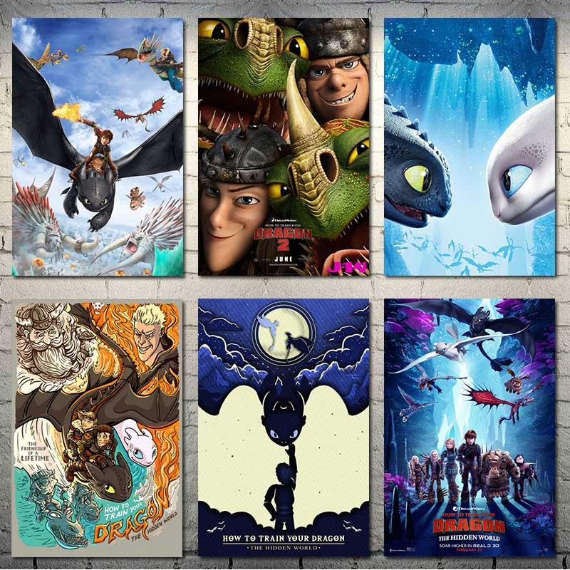How to Train Your Dragon Movie Canvas Silk Poster New Art Home Decor Print 24x32