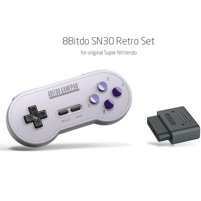 New SN30 2.4G Wireless Gamepad Retro Bluetooth Controller Gamepad With Bluetooth Reciver Adapter For Nintend SNES SF-C For Mac