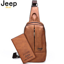 JEEP BULUO Big Size Mens Chest Bag Luxury Brands Double Zipper Crossbody Sling Bags High Quality Men Travel Shoulder Cool