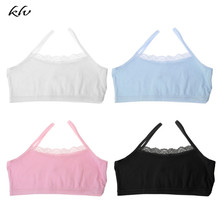 цена Girl Underwear Lace Bras Cotton Camisoles Sports Bra Top For Teens Training Bra онлайн в 2017 году