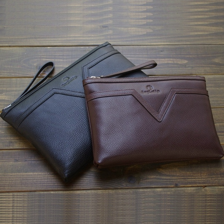 Top-grade 32x21cm Real Leather Men's Document Bag Briefcase For Documents Paper Bag File Folder With Handle Zipper 1230B