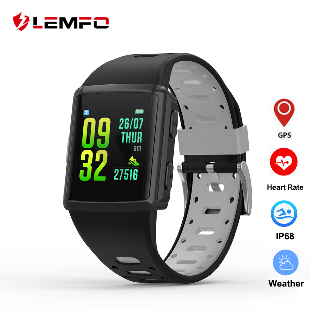 LEMFO M3 gps Смарт-часы Для мужчин 1,3 дюйма IP68 Водонепроницаемый сердечного ритма браслет трекера физической активности 300 Mah Батарея Поддержка ...