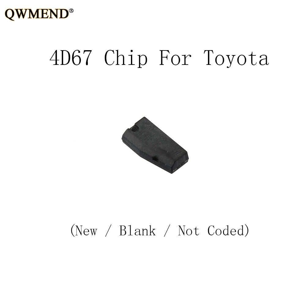 QWMEND Transponder Chip 4D67 Voor Toyota CAMERY COROLLA PREVIA REIZ CROWN RAV4 Voor Lexus P28 4D ID 67 Chip