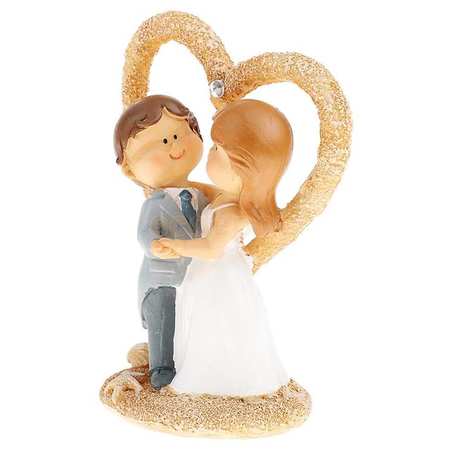 European Style Cartoon Wedding Cake Topper Love Bride and Groom ...