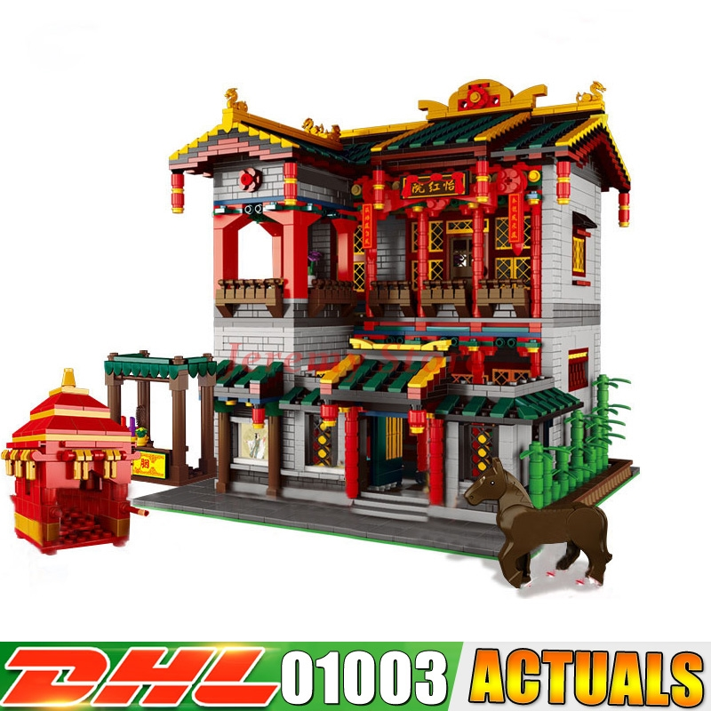 XingBao 01003 MOC 3320Pcs Series The Chinese Traditional Architecture Children Educational Building Blocks Bricks funny Toy the character analysis of the chinese traditional architecture by liang sicheng handai building