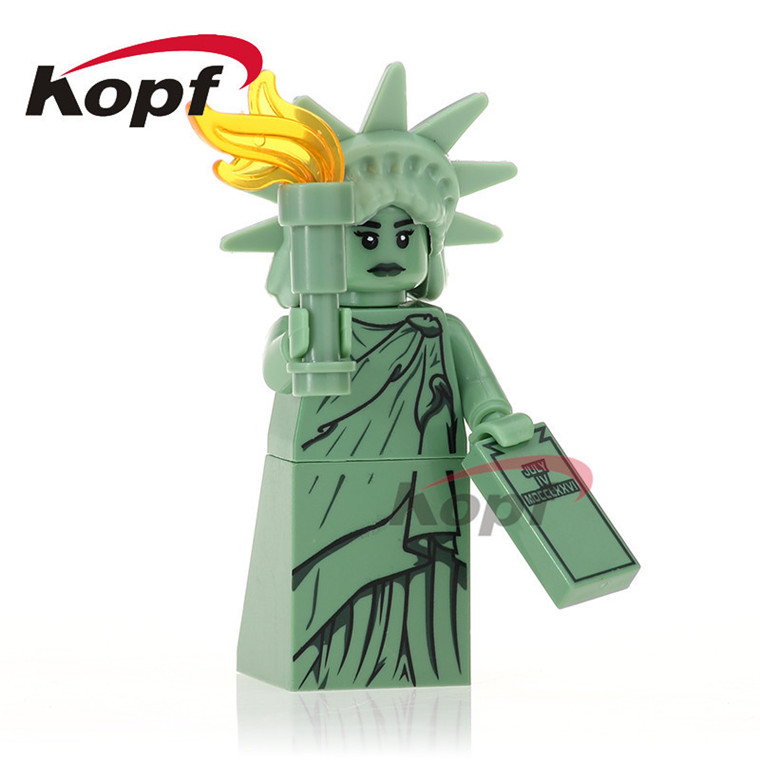 20Pcs XH 495 Building Blocks Inhumans Royal Family Super Heroes Statue of Liberty Unicorn Girl Bricks Action Toys Children Gift