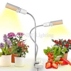 Oświetlenie led do uprawy roślina doniczkowa  45 W/50 W Sunlike Full Spectrum rosną lampy  podwójna głowica gęsiej szyi lampy do uprawy roślin