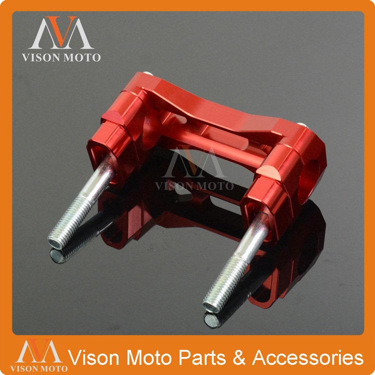 28MM Red Billet HandleBar Bar Risers Mount Clamp CR CRF CR125 CR250 CRF250R CRF450R CRF250X CRF450X Dirt Bike Motocross Enduro crf250r 250x 450r 450x dirt bike motocross enduro modify cnc billet part brake reservoir cover brake hose clamp engine plugs kit