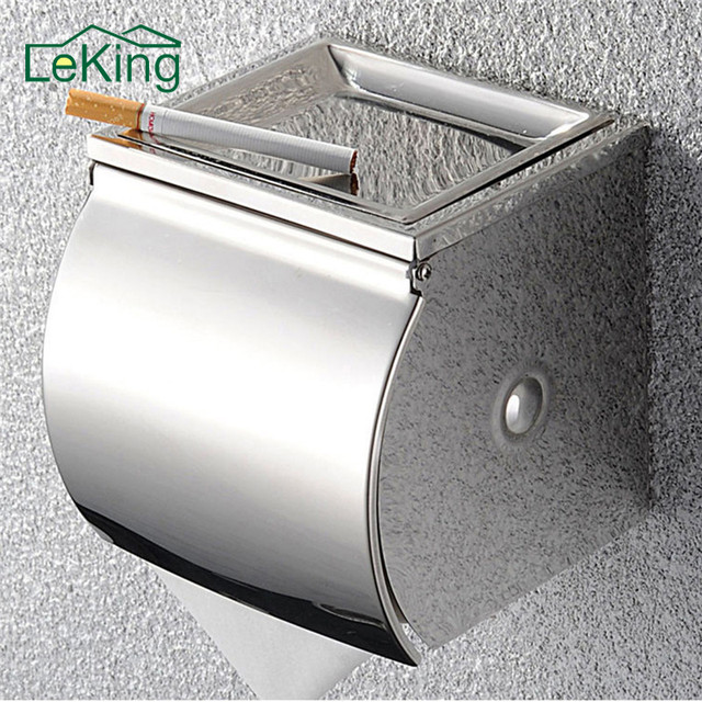 leking stainless steel toilet paper holder bathroom accessories convenient tissue paper roller holder box wall mounted - Bathroom Accessories Toilet Paper Holders