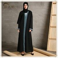 2017 Muslim Women Fashion Robe Long Ladies Clothing Women Arab Ladies Malaysia Abayas Muslim Robes Ramadan